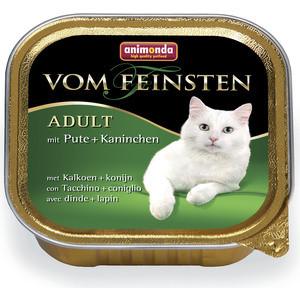 Консервы Animonda Vom Feinsten Adult с индейкой и кроликом для кошек 100г (83442)