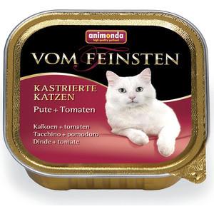 Консервы Animonda Vom Feinsten for Castrated Cats с индейкой и томатами для стерилизованных кошек 100г (83854) консервы animonda vom feinsten for castrated cats с индейкой и форелью для стерилизованных кошек 100г 83447