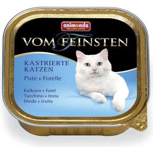 Консервы Animonda Vom Feinsten for Castrated Cats с индейкой и форелью для стерилизованных кошек 100г (83447) консервы animonda vom feinsten for castrated cats с индейкой и форелью для стерилизованных кошек 100г 83447