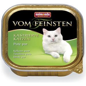 Консервы Animonda Vom Feinsten for Castrated Cats с отборной индейкой для стерилизованных кошек 100г (83856) консервы animonda vom feinsten for castrated cats с индейкой и форелью для стерилизованных кошек 100г 83447