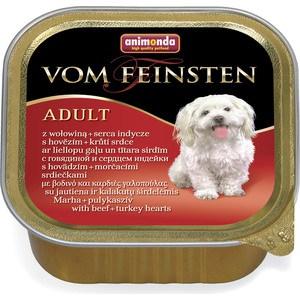 Консервы Animonda Vom Feinsten Adult с говядиной и сердцем индейки для собак 150г (82966) цена
