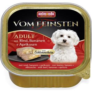 Консервы Animonda Vom Feinsten Adult меню для гурманов с говядиной, бананом и абрикосами для привередливых собак 150г (82666) миллион меню для гурманов и не только пружина