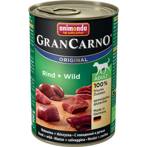 Консервы Animonda GranCarno Original Adult с говядиной и дичью для собак 400г (82736)