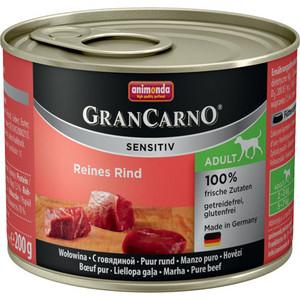 Консервы Animonda GranCarno Sensitiv c говядиной для собак с чувствительным пищеварением 200г (82400) фото