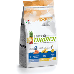 Сухой корм Trainer Fitness3 No Gluten Mini Adult Salmon&Maize без глютена с лососем и кукурузой для собак мелких пород 2кг