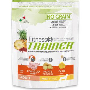 Сухой корм Trainer Fitness3 No Grain Mini Adult Rabbit and Potatoes беззерновой с кроликом и картофелем для собак мелких пород 800г