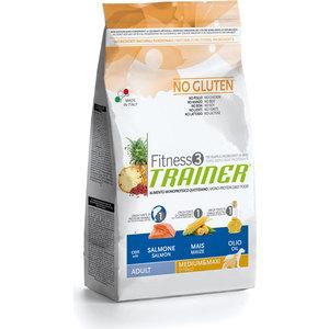 Сухой корм Trainer Fitness3 No Gluten Medium/Maxi Adult Salmon&Maize без глютена с лососем и кукурузой для собак средних крупных пород 3кг