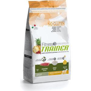 Сухой корм Trainer Fitness3 No Gluten Medium/Maxi Adult Duck&Rice без глютена с уткой и рисом для собак средних и крупных пород 12,5кг