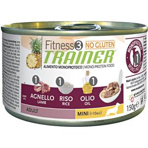 Консервы Trainer Fitness3 No Gluten Mini Adult Lamb&Rice без глютена с ягненком и рисом для собак мелких пород 150г