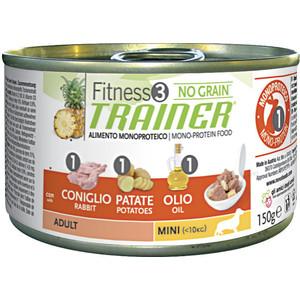 Консервы Trainer Fitness3 No Grain Mini Adult Rabbit&Potatoes беззерновой с кроликом и картофелем для собак мелких пород 150г недорого