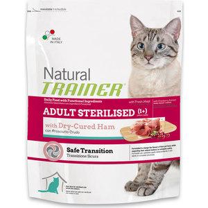 Сухой корм Trainer Natural Adult Sterilised Dry-Cured Ham с ветчиной для стерилизованных кошек 1,5кг фото