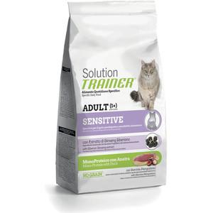 купить Сухой корм Trainer Solution Sensitive With Duck с уткой для кошек чувствительных и склонных к аллергии 1,5кг по цене 1523.5 рублей
