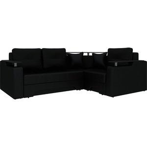 Угловой диван Мебелико Комфорт-4 правый, весь - Легенда черный