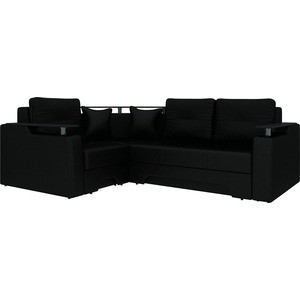 Угловой диван Мебелико Комфорт-4 левый, весь - Легенда черный