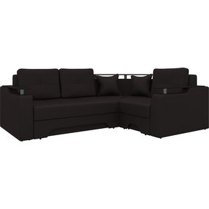 угловой диван артмебель комфорт 5 правый весь легенда коричневый