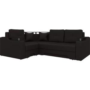 Угловой диван Мебелико Комфорт-5 левый, весь - Легенда коричневый