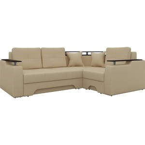 Угловой диван Мебелико Комфорт-7 правый, весь - Легенда беж