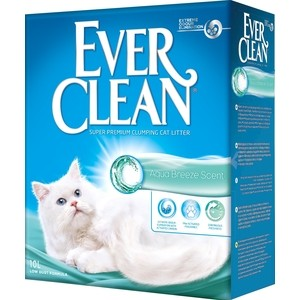 Наполнитель Ever Clean Aqua Breeze Scent с ароматом морского бриза комкующийся для кошек 10л