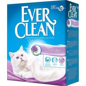 Наполнитель Ever Clean Lavender с ароматом лаванды комкующийся ароматизатором для кошек 10л