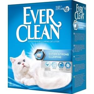Наполнитель Ever Clean Extra Strong Clumpin Unscented экстра контроль запаха комкующийся без ароматизатора для кошек 6л