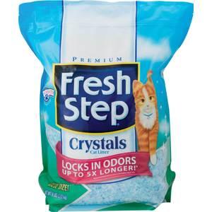 Наполнитель Fresh Step Crystals - впитывающий силикагель для кошек 1,81кг