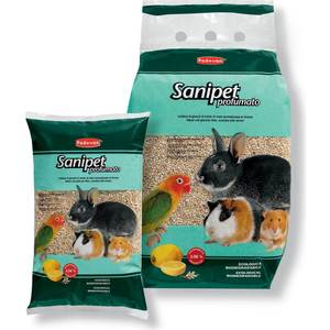 Наполнитель Padovan SANIPET Profumato кукурузные гранулы c ароматом цитрусовых для грызунов и птиц 10л