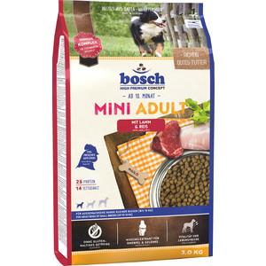Сухой корм Bosch Petfood Mini Adult Lamb & Rice с ягнёнком и рисом для собак мелких пород 3кг фото