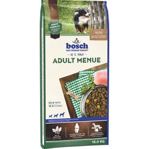 Сухой корм Bosch Petfood Adult Menu для взрослых собак всех пород 15кг