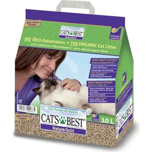 Наполнитель Cat's Best Nature Gold древесный комкующийся для кошек 5кг (10л) цена