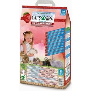 Наполнитель Cat's Best Universal Strawberry древесный впитывающий с ароматом клубники для кошек и грызунов 5,5кг (10л) наполнитель для грызунов cat s best chipsi