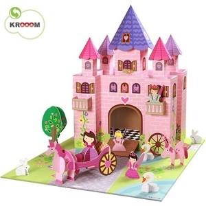 Игрушки из картона Krooom набор Замок принцессы Тринни (k-219) krooom игрушки из картона набор замок принцессы тринни k 219