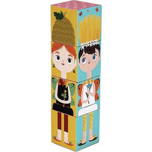 Игрушки из картона Krooom Stack&Match кубики Лесные феи (k-441)