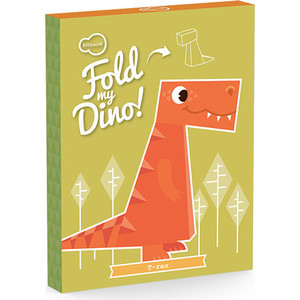 Игрушки из картона Krooom модель Fold my. Тиранозавр (k-470)