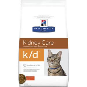 Сухой корм Hills Prescription Diet k/d Kidney Care with Chicken с курицей диета при лечении заболеваний почек и МКБ для кошек 5кг (4308)