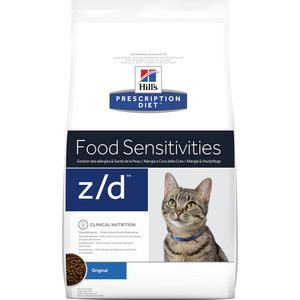 Сухой корм Hill's Prescription Diet z/d Food Sensitivities Original диета при лечении пищевых аллергий для кошек 2кг (4565) сухой корм hill s prescription diet d d food sensitivities duck