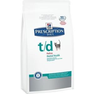 Сухой корм Hills Prescription Diet t/d Feline Dental Health диета при лечении заболеваний полости рта для кошек 1,5кг (8688)