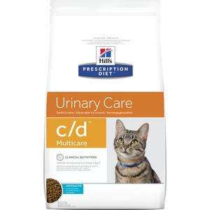 Сухой корм Hill's Prescription Diet c/d Urinare Care Milticare with Ocean Fish с рыбой диета при профилактике МКБ для кошек 1,5кг (9184) цена и фото