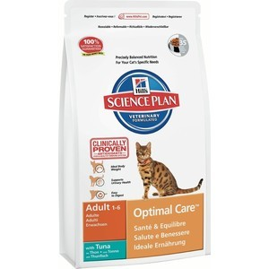Сухой корм Hills Science Plan Optimal Care Adult with Tuna с тунцом для кошек 10кг (4231)