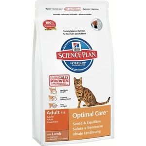Сухой корм Hills Science Plan Optimal Care Adult with Lamb с ягненком для кошек 2кг (8737)