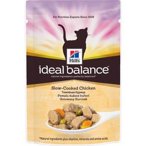 Паучи Hills Ideal Balance Slow-Cooked Chicken томленная курица с овощами для кошек 82г (10023)