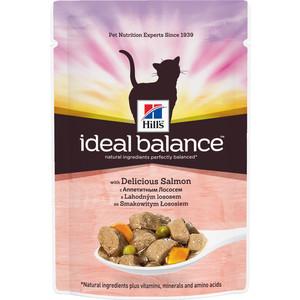 Паучи Hills Ideal Balance with Delicious Salmon c аппетитным лососем и овощами для кошек 82г (10025)