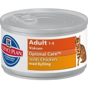 Консервы Hills Science Plan Optimal Care Adult with Chicken с курицей для кошек 82г (10801)