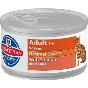 Консервы Hills Science Plan Optimal Care Adult with Salmon с лососем для кошек 85г (4535)