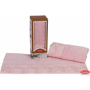 Полотенце Hobby home collection Almeda 50x90 см пудра (1501000375) комплект семейный hobby home collection almeda