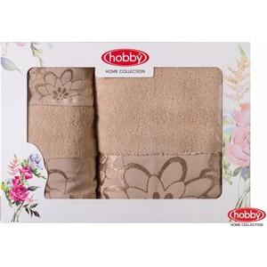 цена Набор из 3 полотенец Hobby home collection Dora 30x50/50x90/70x140 бежевый (1501001213) онлайн в 2017 году