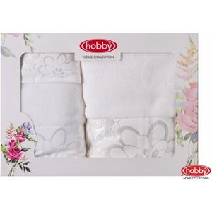 цена Набор из 3 полотенец Hobby home collection Dora 30x50/50x90/70x140 белое (1501001214) онлайн в 2017 году