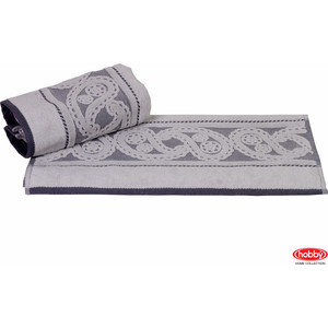 Полотенце Hobby home collection Hurrem 50x90 см серый (1501000484) полотенце ecotex джаз 50x90 серый jt 01 m серый charcoal