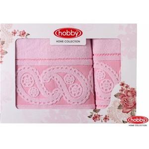 цена Набор из 2 полотенец Hobby home collection Hurrem 50x90/70x140 светло-розовый (1501001228) онлайн в 2017 году