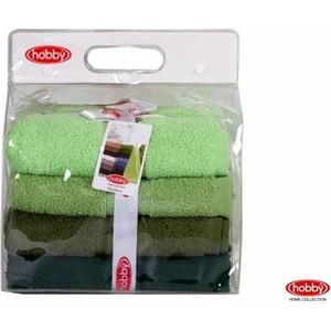 цена Набор из 4 полотенец Hobby home collection Rainbow 50x90 см 4 штуки зеленый (1501001194) онлайн в 2017 году