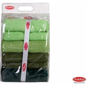 Набор из 4 полотенец Hobby home collection Rainbow 70x140 см штуки зеленый (1501001202)
